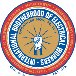 Endorsed by the International Brotherhood of Electrical Workers Local #654.