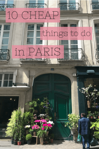 Cheap things to do in Paris.