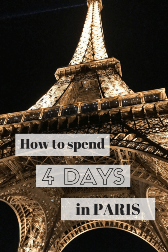 How to spend four days in paris Pinterest