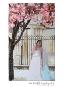 Cherry Blossom Bride, 2019, Acrylic on linen, 55 x 33 cm