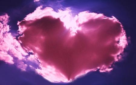 pink cloud heart