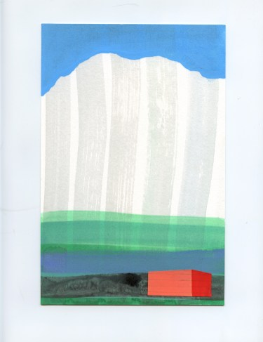 """Iceland series, mixed media on paper, 6"""" x 9"""", 2017"""