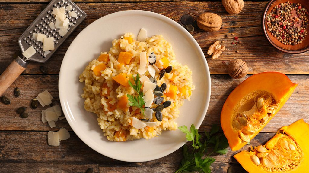 Roasted Acorn Pumpkin Risotto
