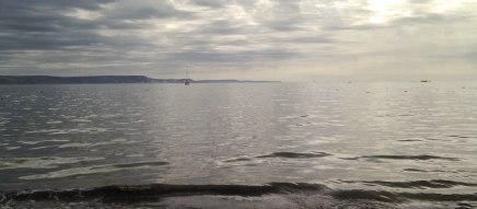 The deep grey sea