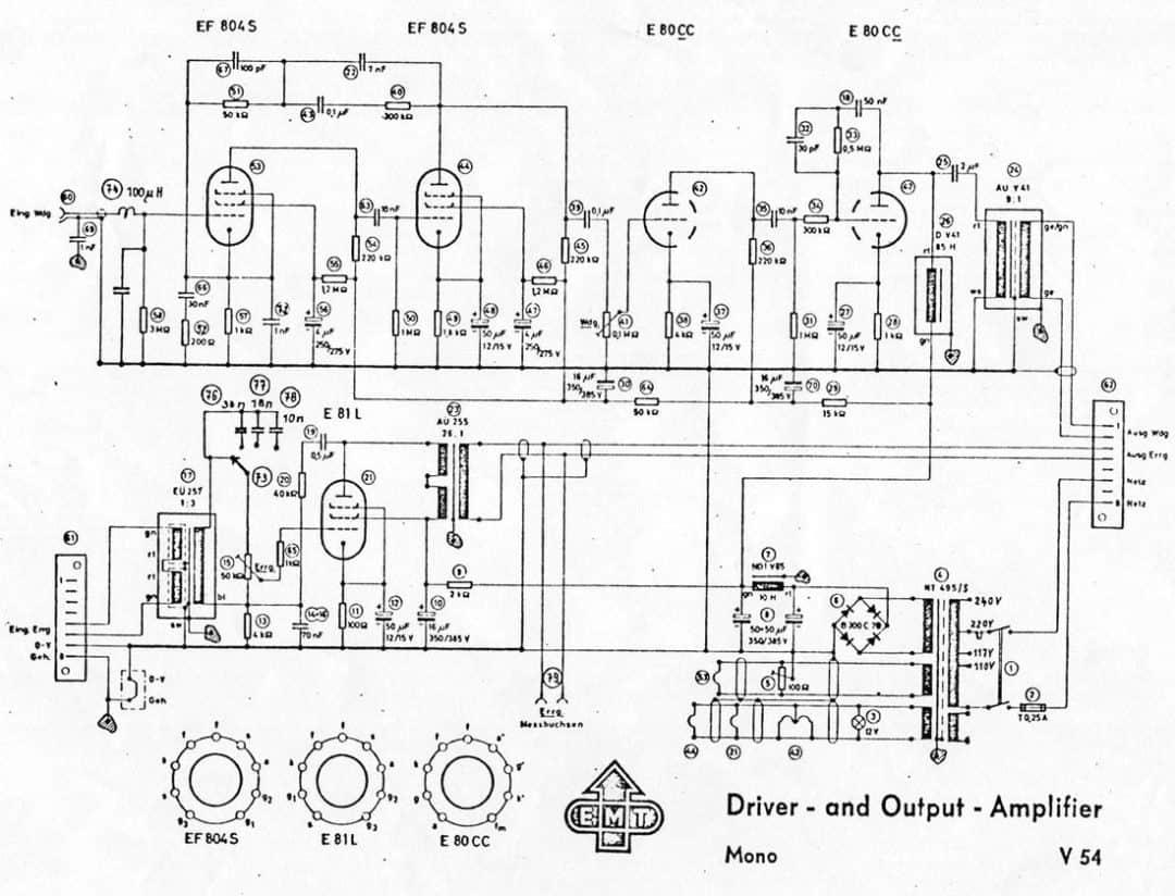 Emt Mono Tube Reveb Amp Schematic