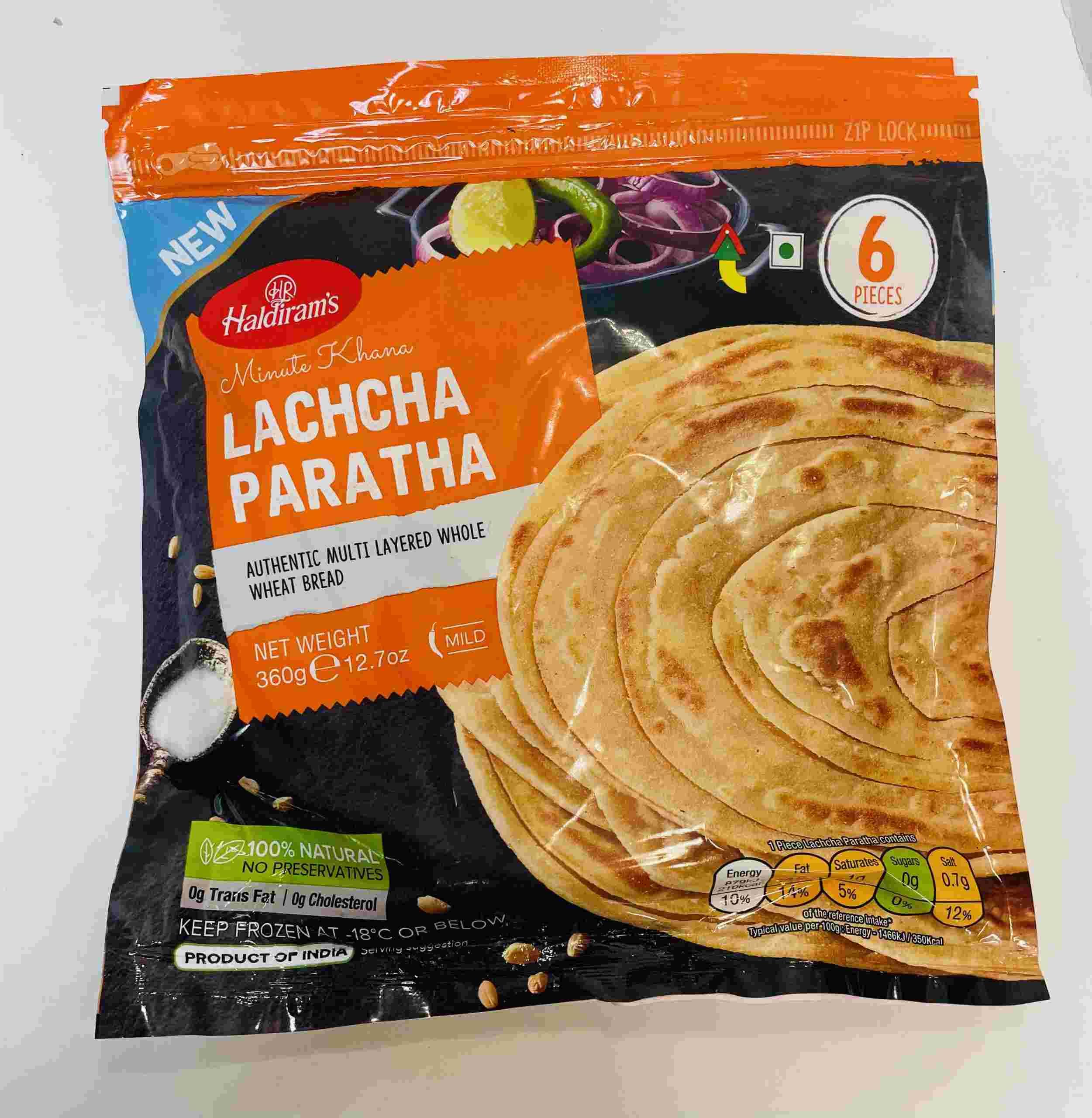 Haldiram's Lachcha Paratha 6 Pieces