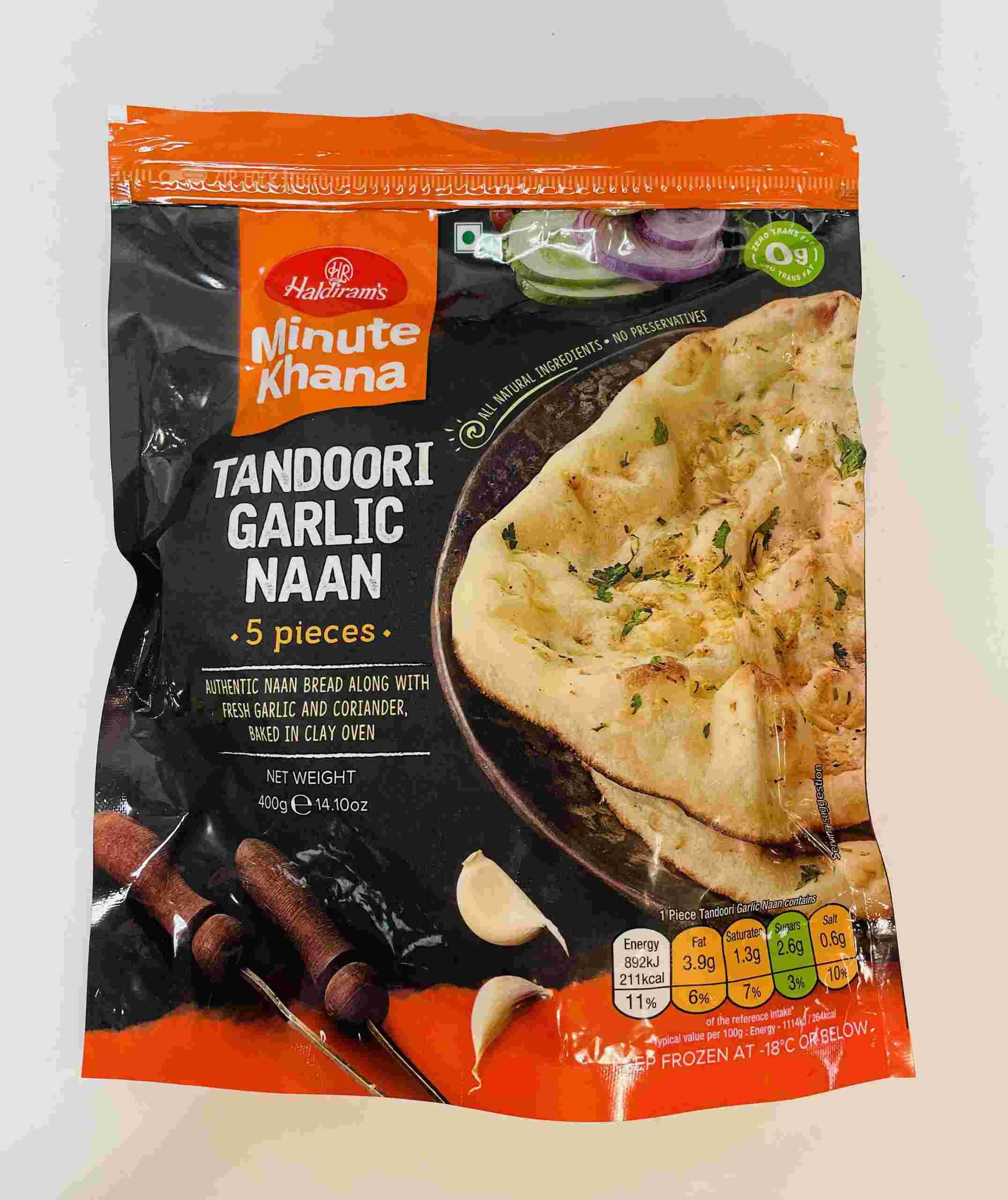 Haldiram's Tandoori Garlic Naan 5 Pieces