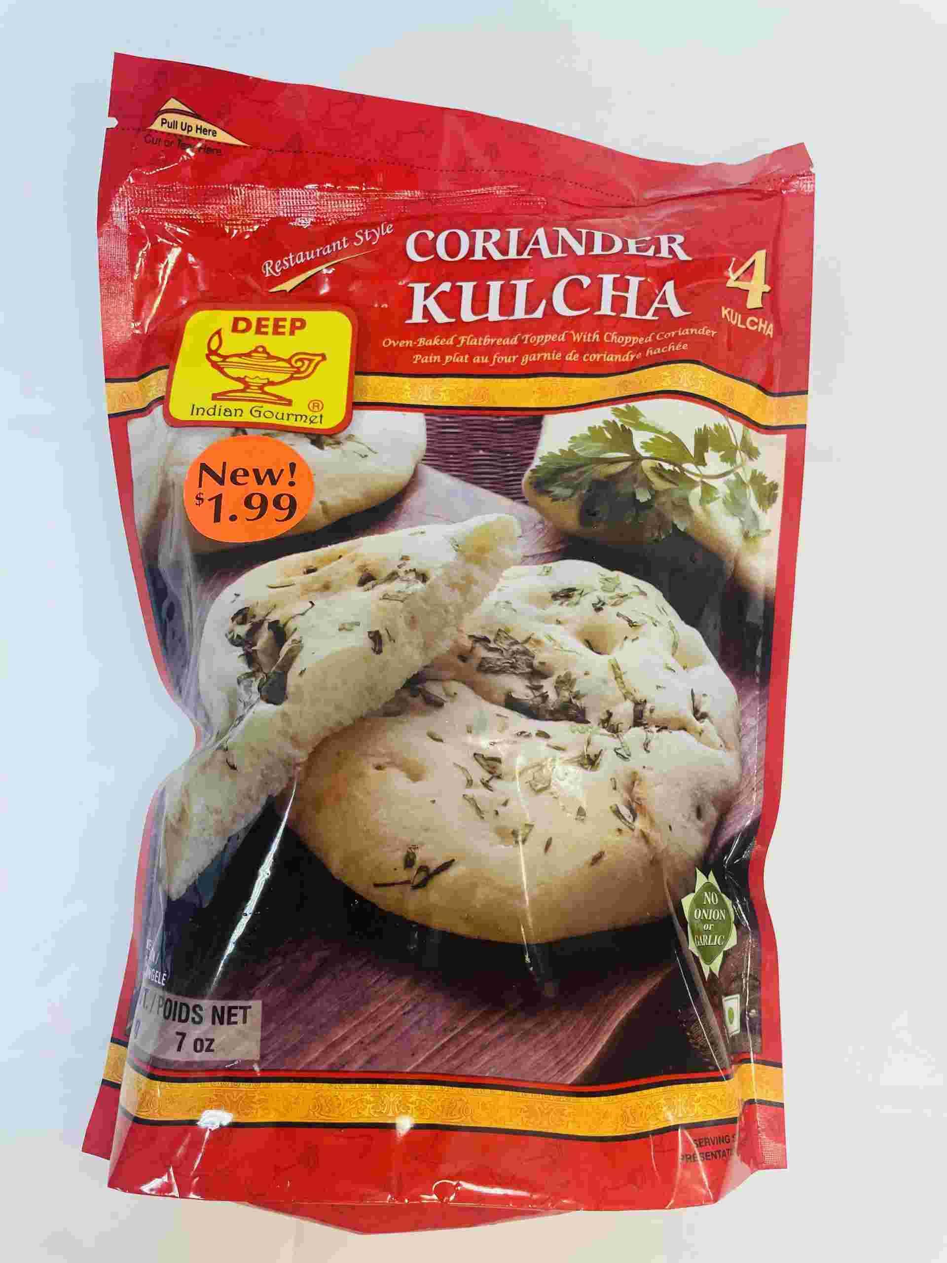 Deep Coriander Kulcha 4 Pieces
