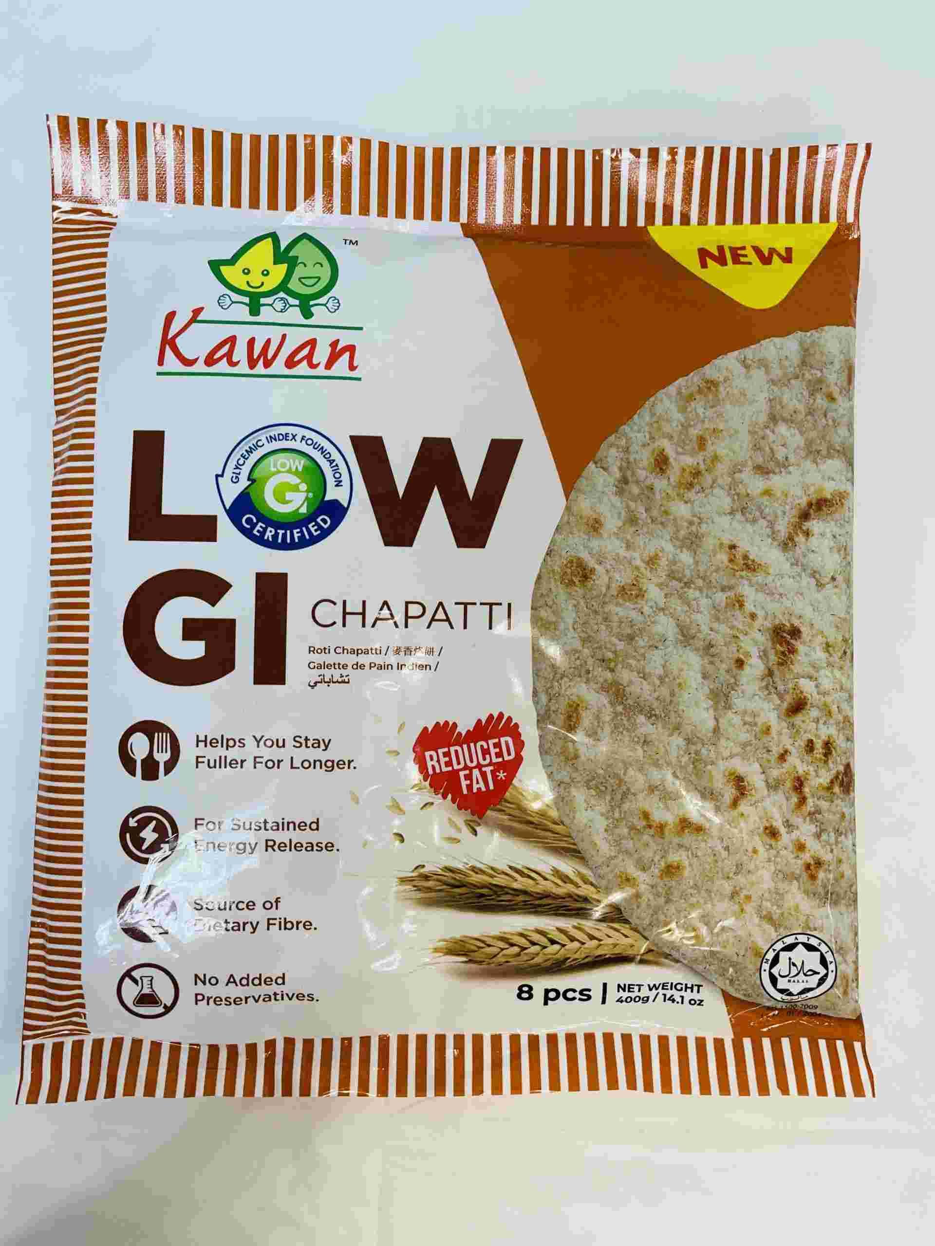 Kawan Low Gi Chapatti 8 Pieces