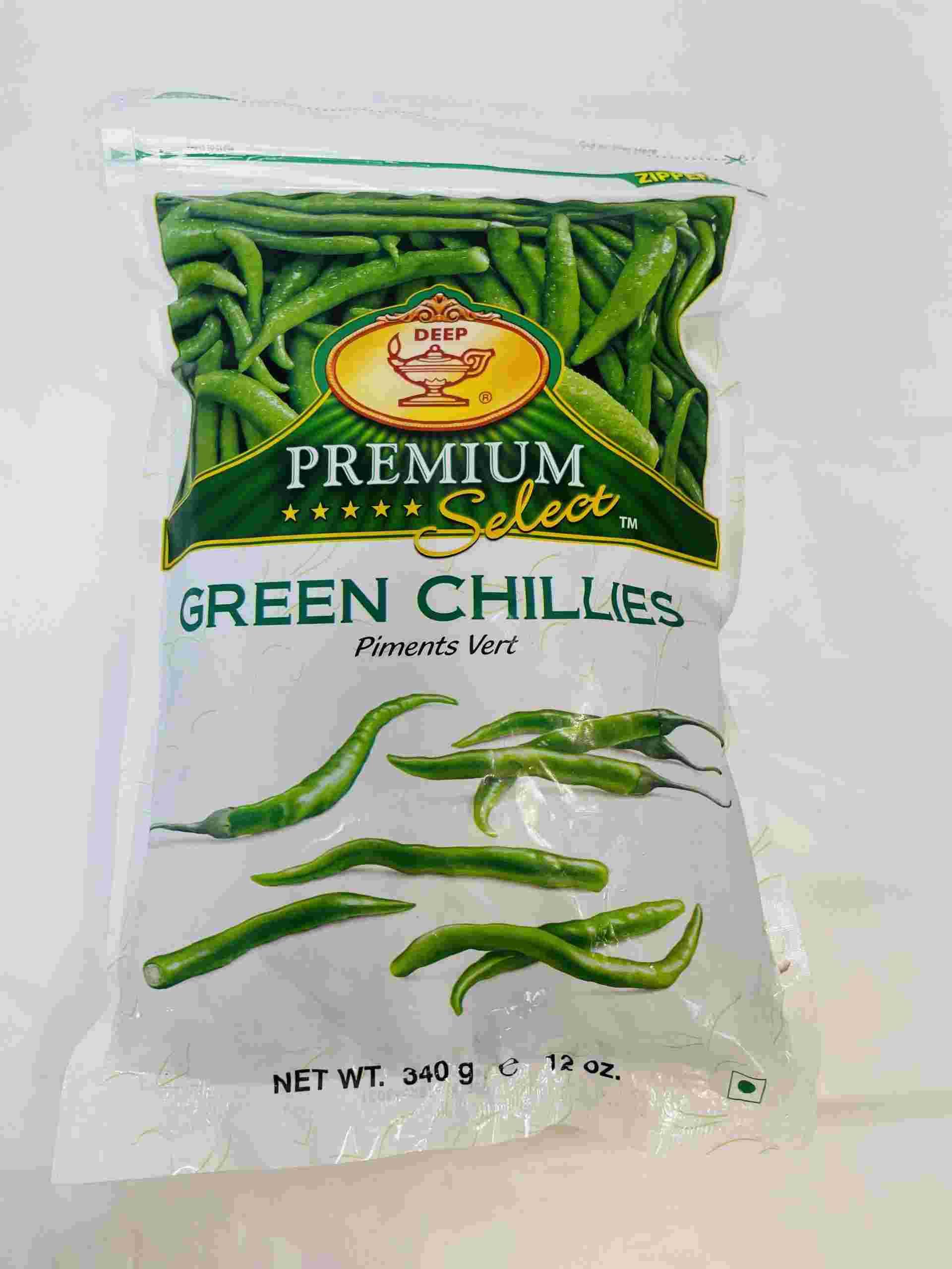 Deep  Green Chillies