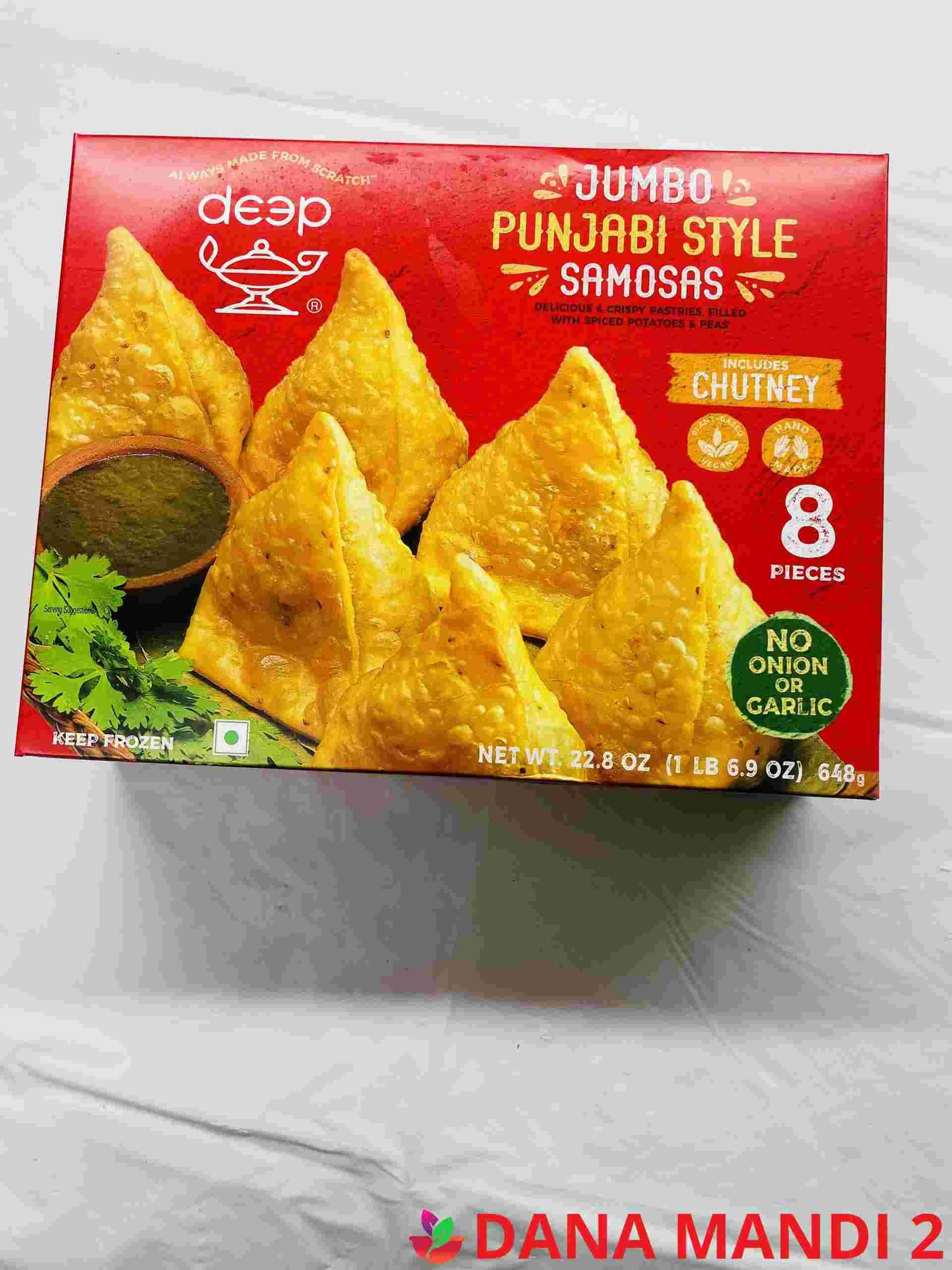 Deep  Jumbo Punjabi Samosa 8 Pieces