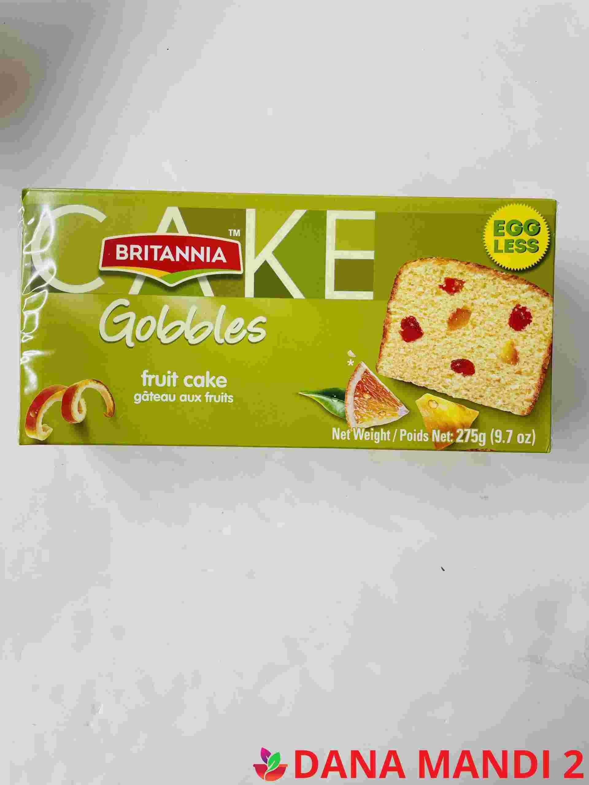 Britannia Gobbles Fruit Cake ( Egg Less )