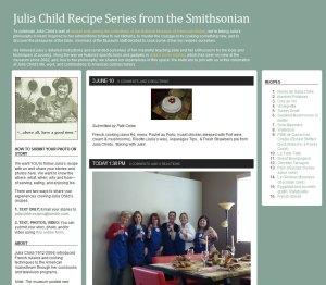 Screenshot of Julia Child site