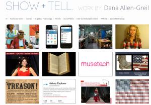 show & tell website screenshot