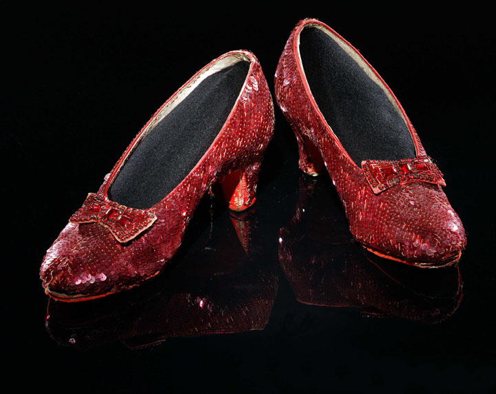 Dorothy's ruby slippers from The Wizard of Oz