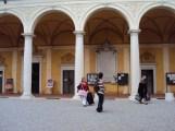 Zia Leda da Silva, eu, Nonna Isaura Barbieri no Palácio Gambara (Prefeitura)