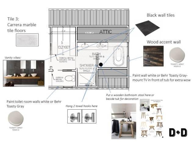 bathroom floor plan, townhouse bathroom, dana morris interior design, bathroom layout, bathroom design