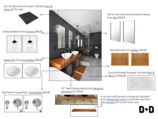 townhouse bathroom, bathroom idea, bathroom inspiration, modern bathroom, town home bathroom, dana morris, interior design