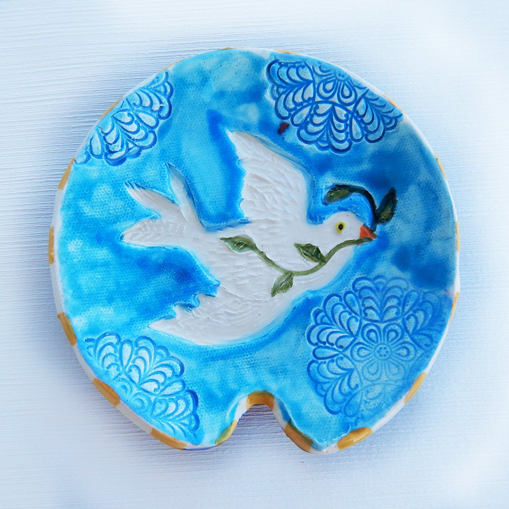 peace dove spoon rest