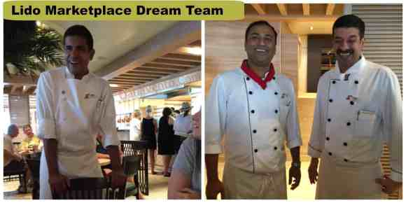 allergy free dining, lido deck, lido marketplace, food without allergens, dining, buffets, carnival cruises, carnival sunshine, nut free, shellfish free, honey free, restaurant, chefs, chef bipin, chef menon, chef cletus, dana vento, travel, kids, foodies