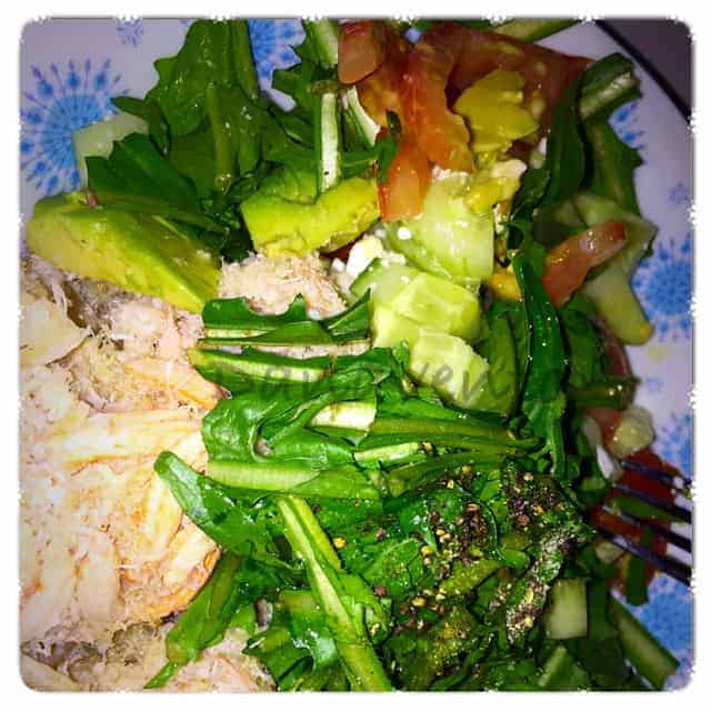 LCHF, Low Carb, High Fat, Lifestyle, food, foodie, recipe, LCHF Dandelion, Dandelion Crab Salad Recipe, dana vento, food blogger, luxury lifestyle