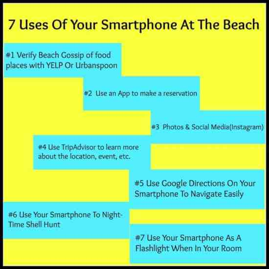 7 best reasons to use your smartphone at the beach, technology, travel, vacation, travel blogger, dana vento, traveling, family time, food, food blogger, yelp, urbanspoon, google, gossip, trending, reservations, no wait, dana vento