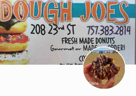 dough joes, dough joes donuts, dough joes donuts on 23rd, virginia beach, doughnuts, donuts, donuts in virginia beach, delivery available, allergen free, call ahead, Mary, donut shop, donuts delivered to you, Open all morning, customize your donuts, dough joes at Virginia Beach, food blogger, travel blogger, dana vento, ad, Visit Va Beach