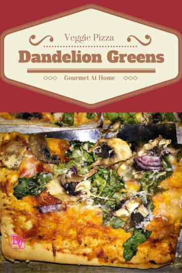 dandelion pizza, dandelion, greens, onions, red onions, mushrooms, sliced mushrooms, colander, gourmet, gourmet pizza, gourmet pizza at home, meatless pizza, vegetarian pizza, veggie pizza, shell, cheese, romano cheese, fresh grated cheese, food, food blogger, dana vento, dandelion green pizza, veggie pizza with dandelion greens, recipe, recipes, foodies, easy to make,Veggie Pizza With Dandelion Greens,