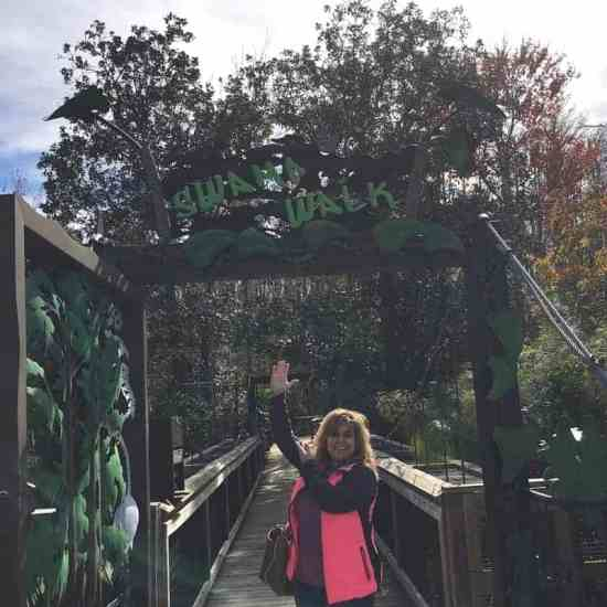 Gatorland, Orlando, Gators, Alligators, Crocs, Snakes, Petting Zoo, Family adventure, family time, family trips, family travel, travel blogger, Orlando, Florida, Fun, Fun Park, Entertainment, shows, events, train rides, flamingos, huge gators, gator experiences, jaws of a gator, food, dining, walking, paths, zip lining, travel blogger in florida, dana vento, ad, shows, displays, photos