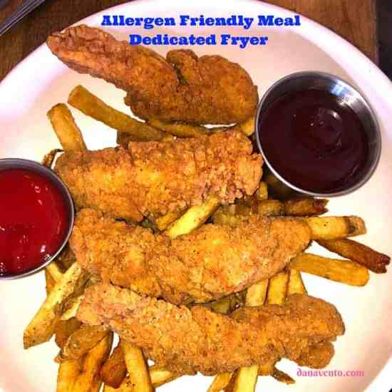 Allergen Friendly Chicken Fingers and Fries at Reel Bar