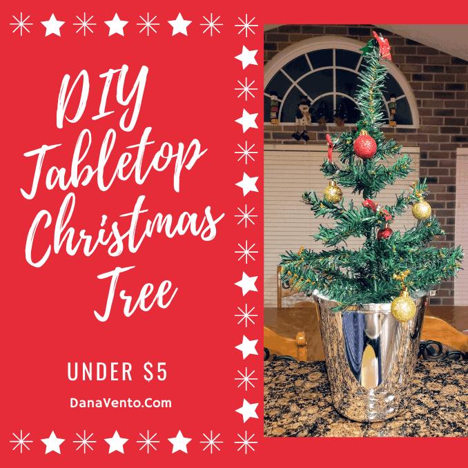 DIY Tabletop Christmas Tree in A Bucket Under $5