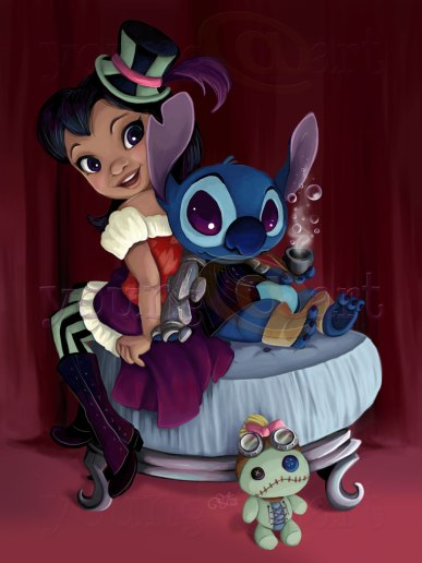 Steampunk Lilo and Stitch