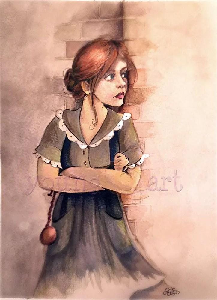 Annie McCain character portrait from Dead Draw novel (work in progress)