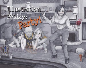 Illustration Friday: Party (Featured Image)