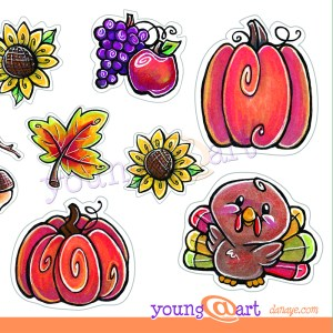 thanksgiving fall harvest stickers autumn