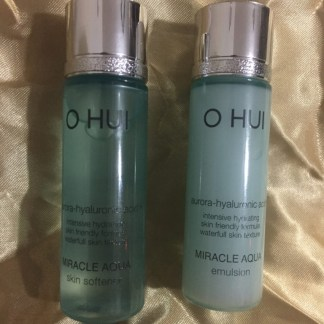 O HUI Miracle Aqua Skin Softener & Emulsion (20ml+20ml)