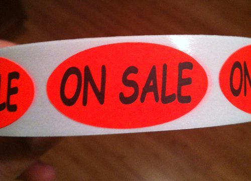 Roll of 500 On Sale Stickers Labels Marketing Tool