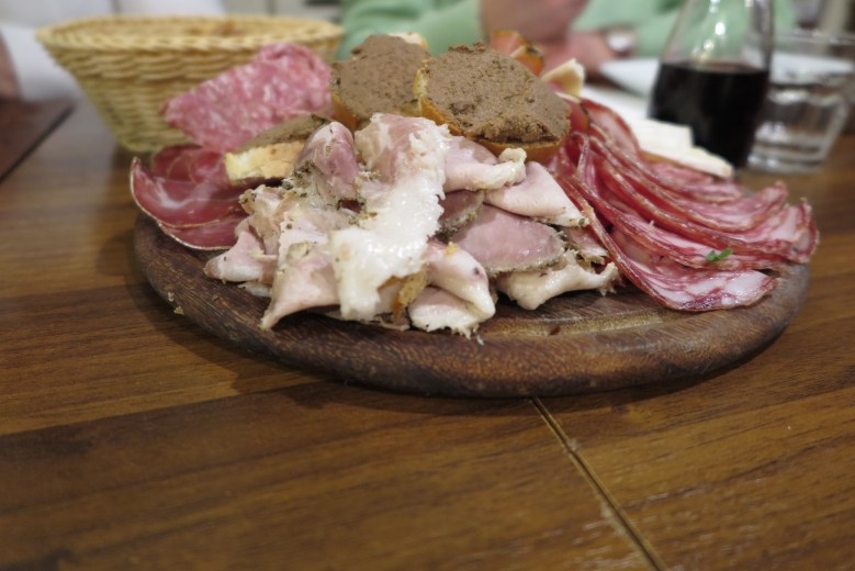 all'antico vinaio cheese and meat course