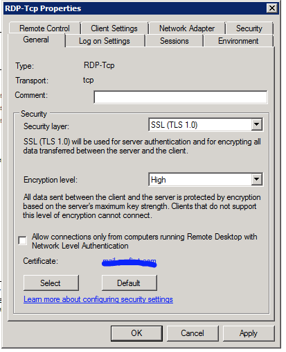 Vulnerability: This host is running Remote Desktop Protocol