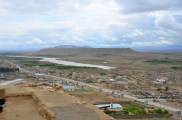 Looking southeast at the large plateau & the Tarnak River