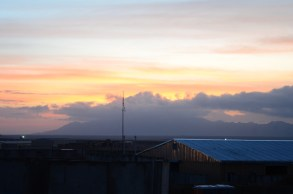 Sunset on FOB Apache