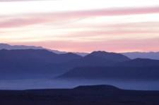 foggy FOB Apache sunrise