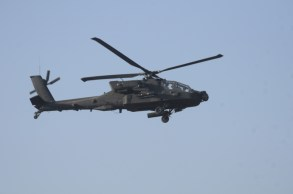 AH-64 Apache escort while on patrol in Mizan, Dec 2011