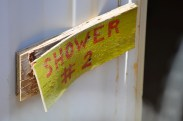old, abandoned showers