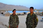 Two Afghan NCO's, the one on the right speaks pretty good English and it was fun to talk with him.