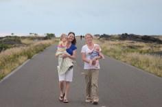Kennadi, Kate, Kaylin & Sam at Volcanoes National Park