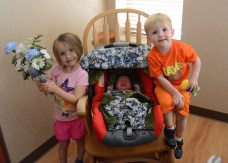 Big sis Kennadi & big brother Sam are ready to take baby Jack home