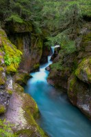 Avalanche Gorge landscape photo of Glacier National Park Montana by Dan Bourque