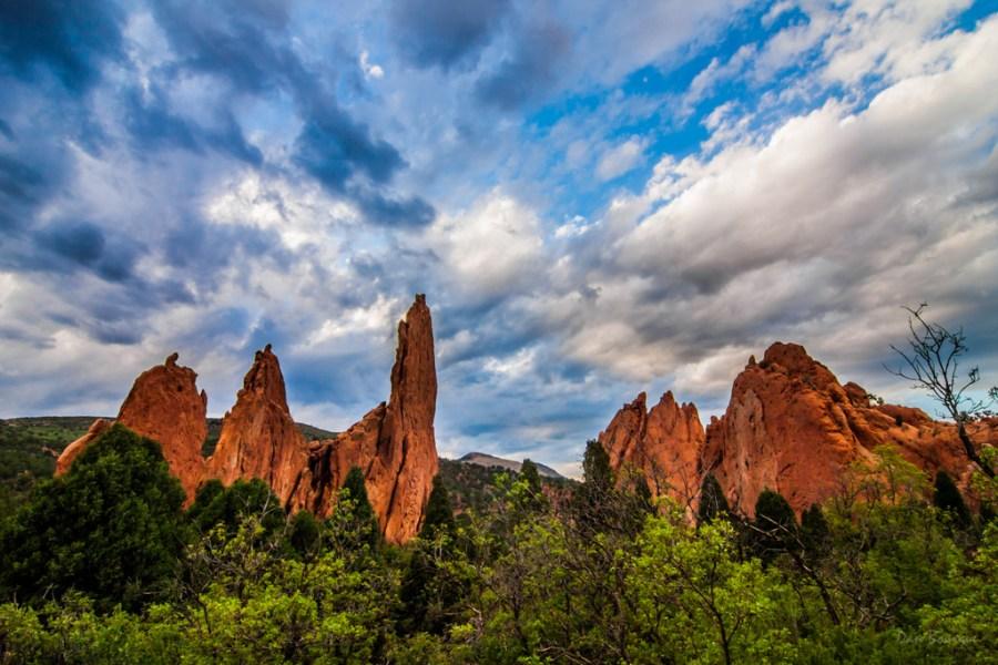 Red Rock Spires Reaching Skyward landscape photo Garden of the Gods Colorado by Dan Bourque