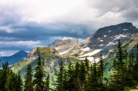 Storm Clouds over the Garden Wall landscape photo of Glacier National Park Montana by Dan Bourque